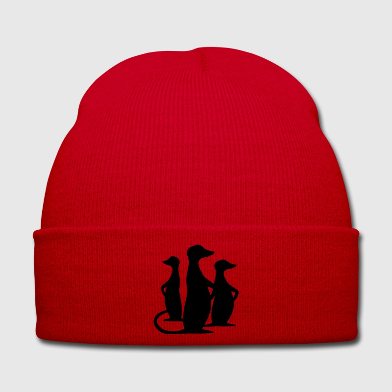 Red meerkat Caps & Hats - Winter Hat