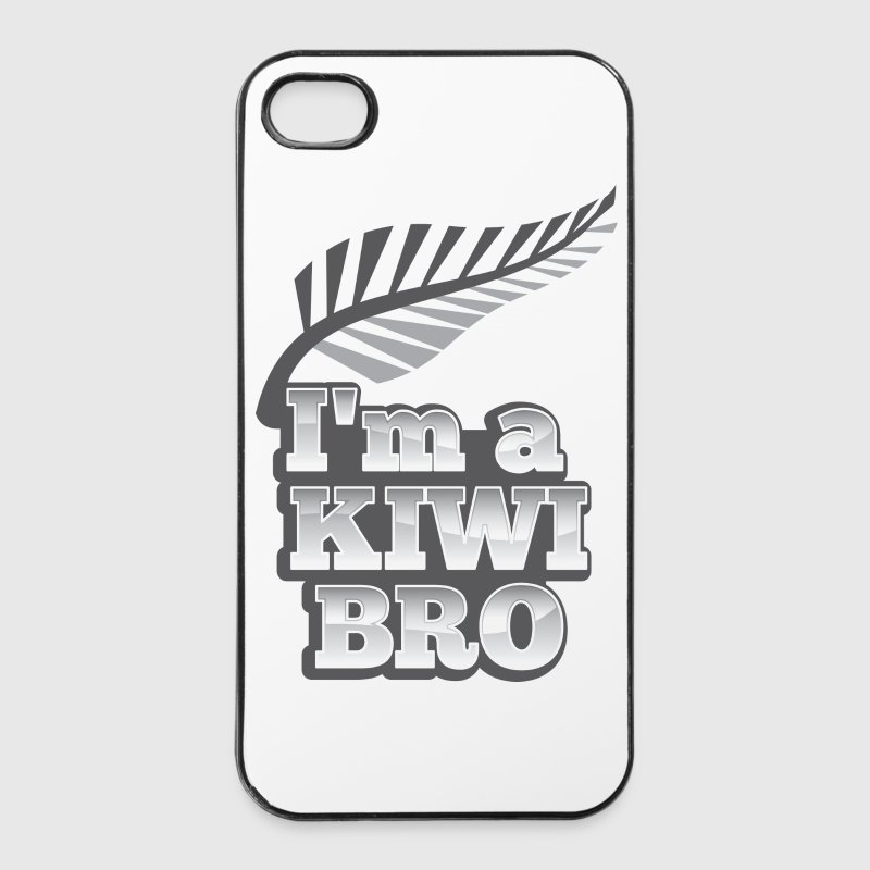 I'm a KIWI BRO with silver fern New Zealand Phone & Tablet Cases - iPhone 4/4s Hard Case