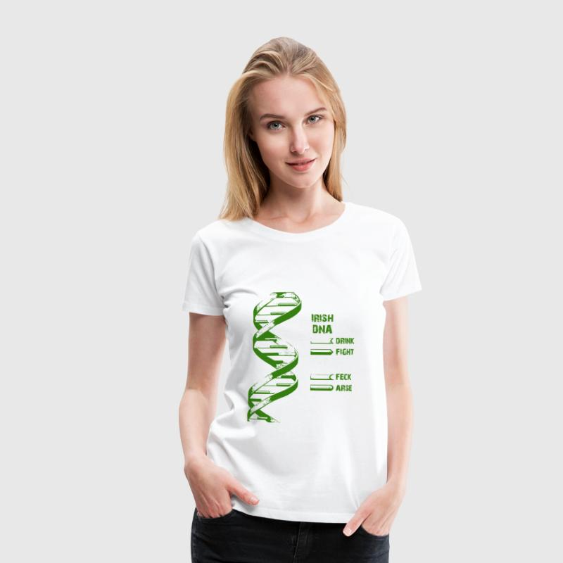 White Irish DNA Women's T-Shirts - Women's Premium T-Shirt
