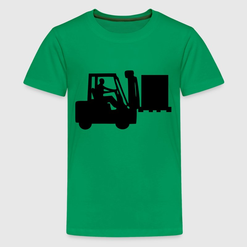 Kelly green Gabelstapler Kinder T-Shirts - Teenager Premium T-Shirt