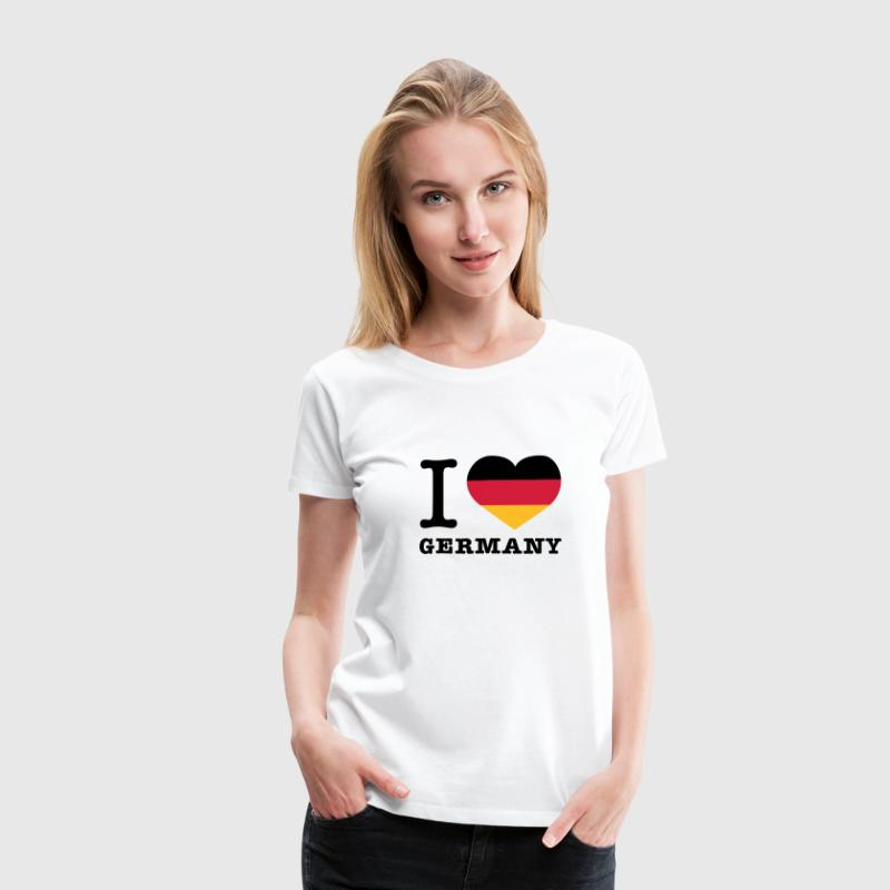 Weiß I love Germany T-Shirts - Frauen Premium T-Shirt