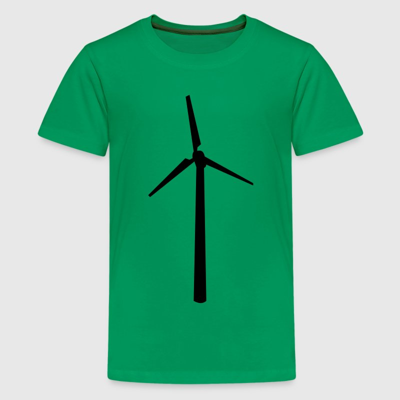 Kelly green Windrad Kinder T-Shirts - Teenager Premium T-Shirt