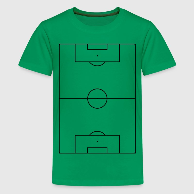 Kelly green Fußballfeld Kinder T-Shirts - Teenager Premium T-Shirt