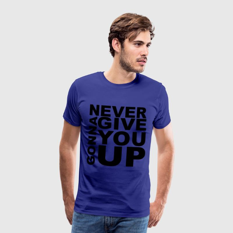 Rick Roll - Never Gonna Give You Up - Herre premium T-shirt