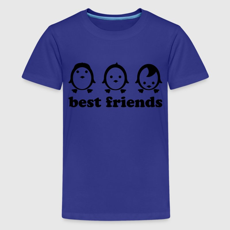 Türkis best friends - line Kinder T-Shirts - Teenager Premium T-Shirt