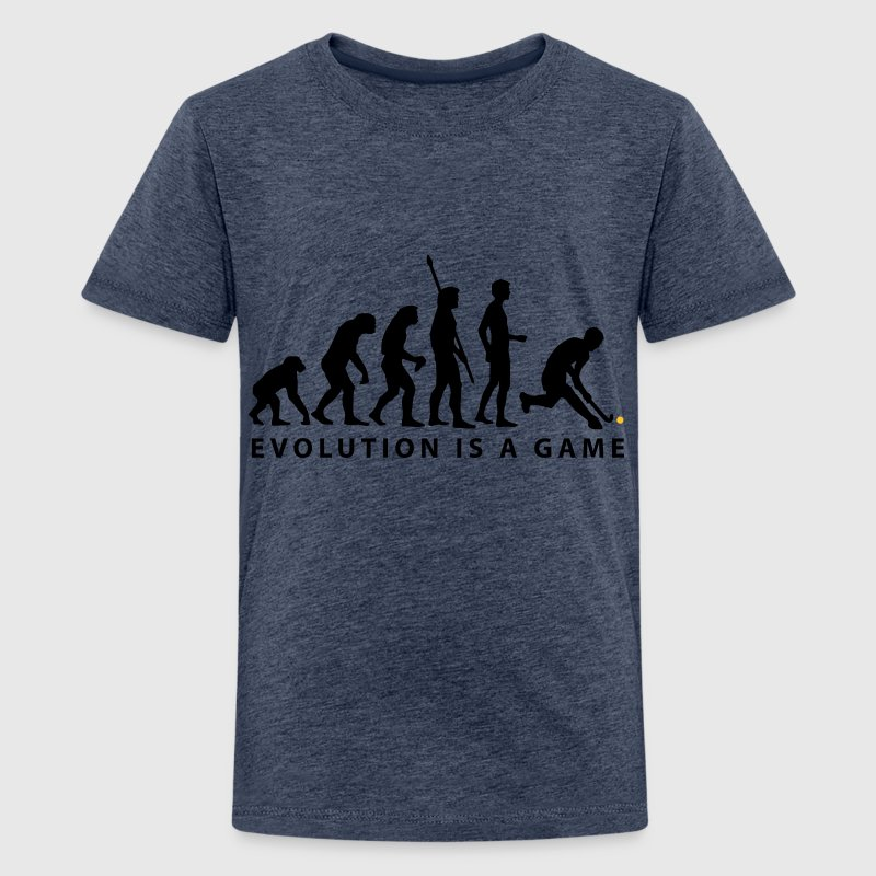 Yellow evolution_herren_hockey_b_2c Kids' Shirts - Teenage Premium T-Shirt