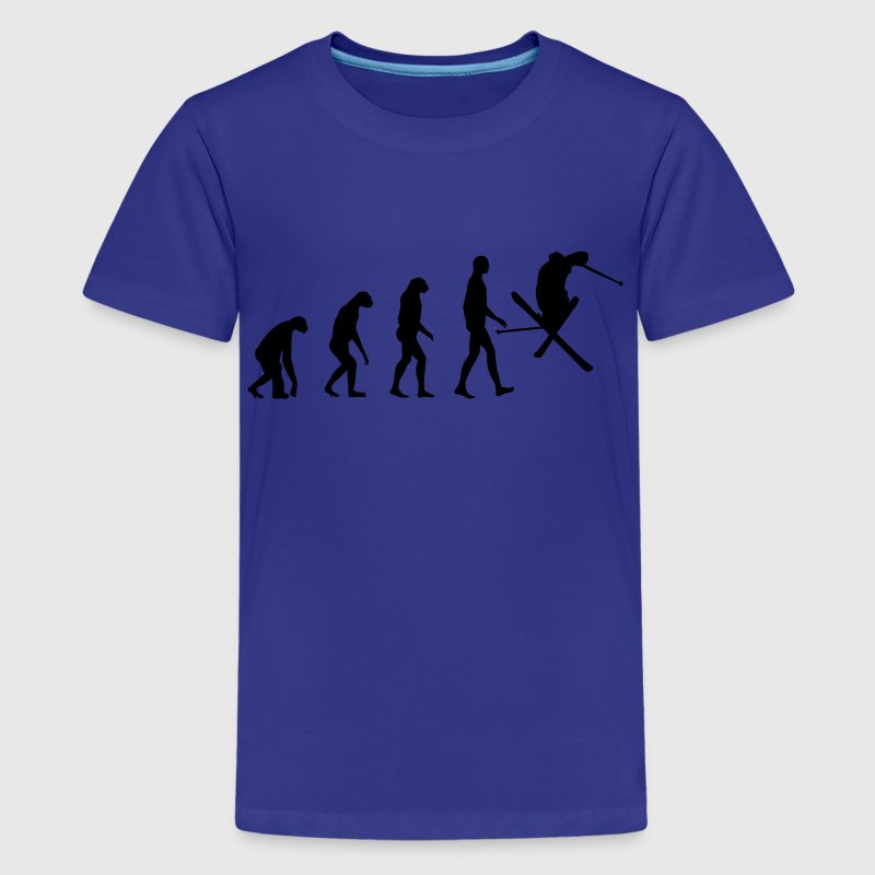Cyan Evolution Ski Kids' Shirts - Teenage Premium T-Shirt