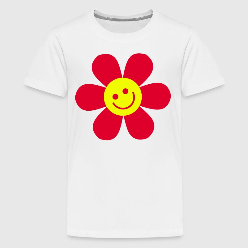 Yellow happy flower Jumiors - Camiseta premium adolescente