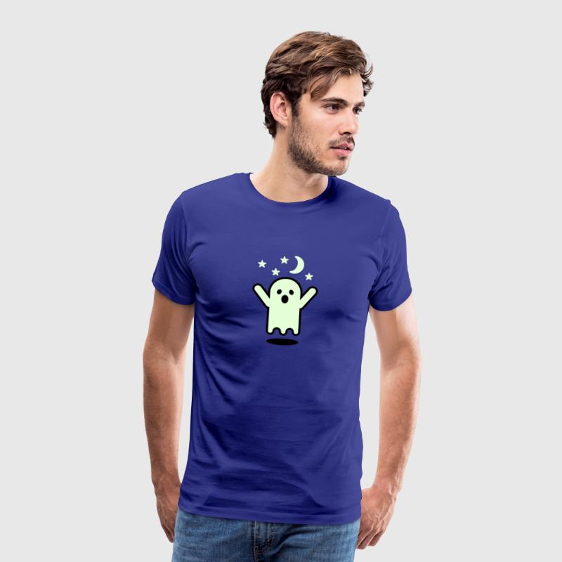 Royal blue Glow in the dark ghost Men's Tees - Men's Premium T-Shirt