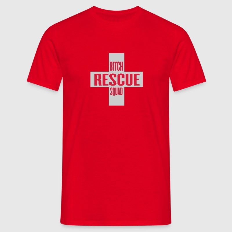 Rouge bitch rescue BY WAM T-shirts - T-shirt Homme