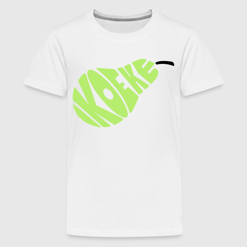 Geel Koekepeer Kinder shirts - Teenager Premium T-shirt