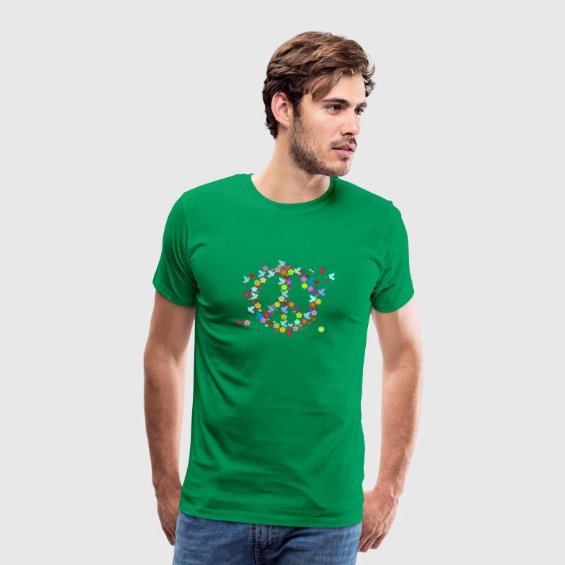 Bottlegreen Blumenkinder Frieden / flower power peace (DDP) Men's T-Shirts - Men's Premium T-Shirt