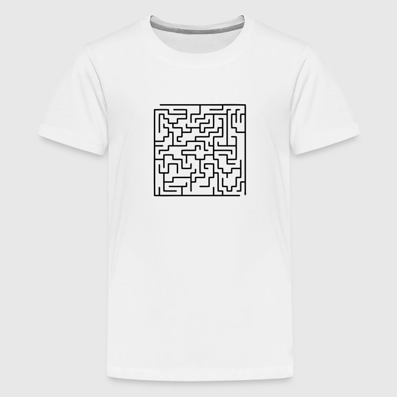maze / labyrinth Kids' Shirts - Teenage Premium T-Shirt