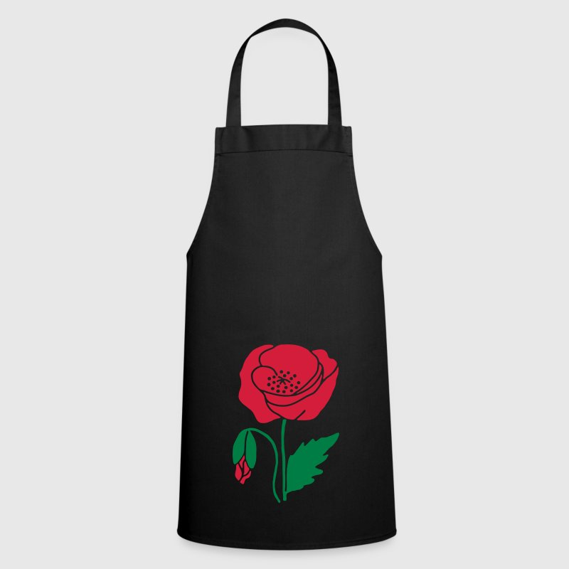 Black poppy  Aprons - Cooking Apron