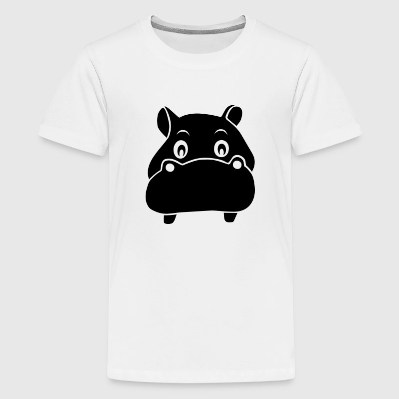 nijlpaard hippo Kinder shirts - Teenager Premium T-shirt