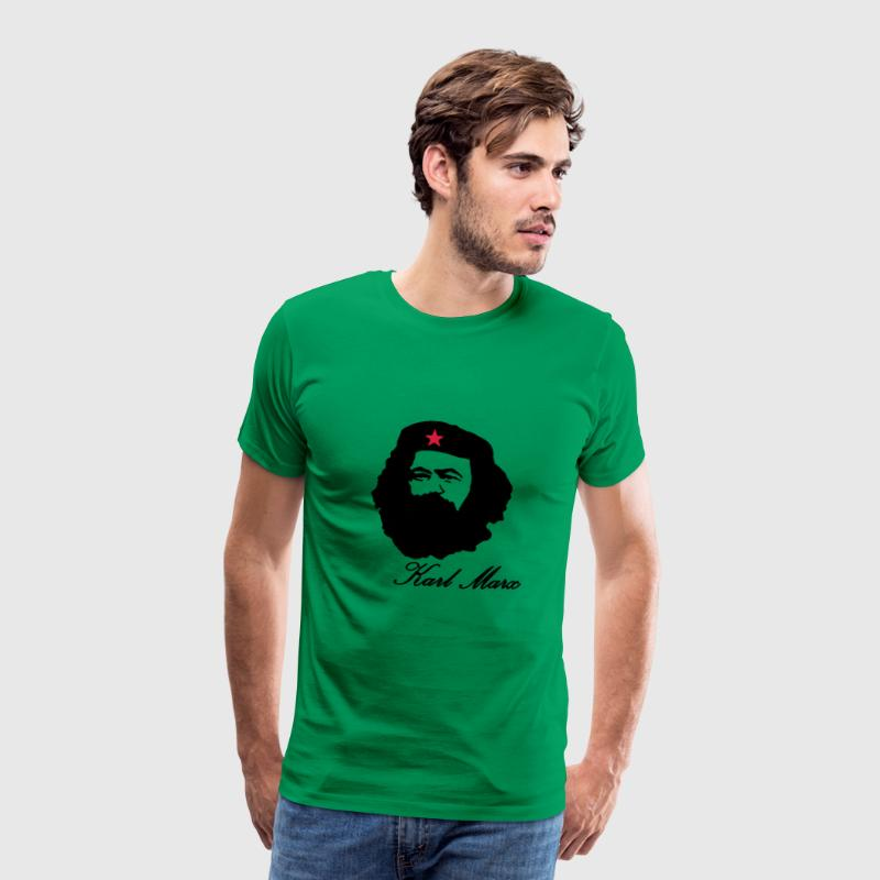Karl Marx portrait with Beret  T-Shirts - Men's Premium T-Shirt