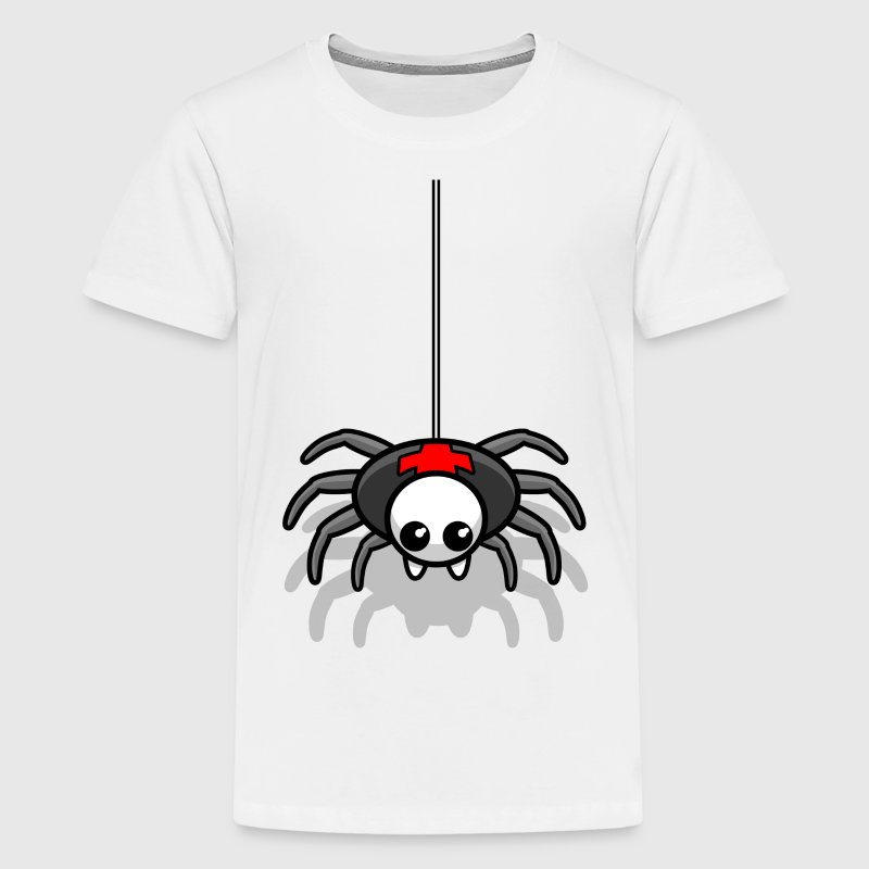 Spinne Monster Horror Grusel Kinder T-Shirts - Teenager Premium T-Shirt