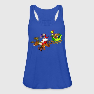 Santa's Gift Delivery with a Slingshot Kids' Shirts - Women's Tank Top by Bella