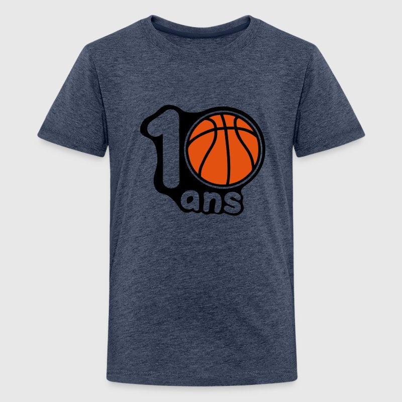 10 ans basketball ballon Tee shirts Enfants - T-shirt Premium Ado