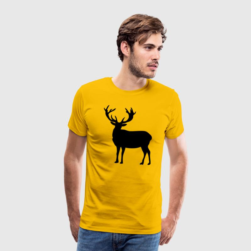 cerf deer silhouette ombre shadow2 Tee shirts - T-shirt Premium Homme