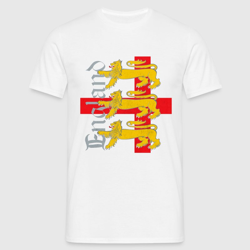 3 Lions & St George's Flag - Men's T-Shirt