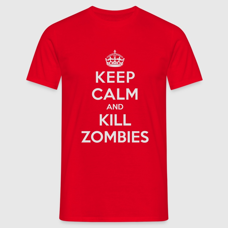 Keep calm and kill zombies - T-shirt herr