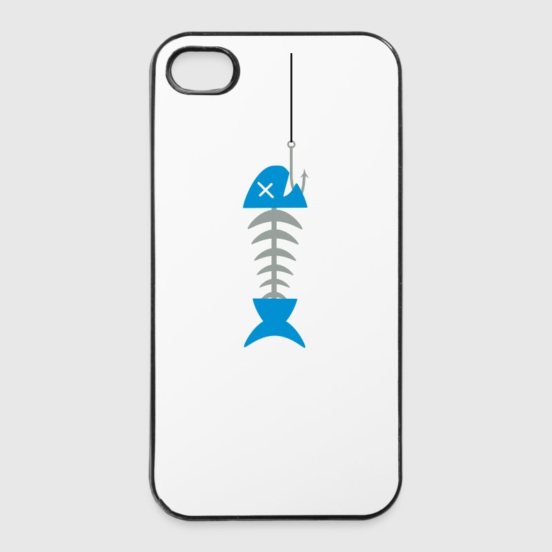 Fish Fish Skeleton Skull pesca pescatori 2c Custodie per cellulari e tablet - Custodia rigida per iPhone 4/4s