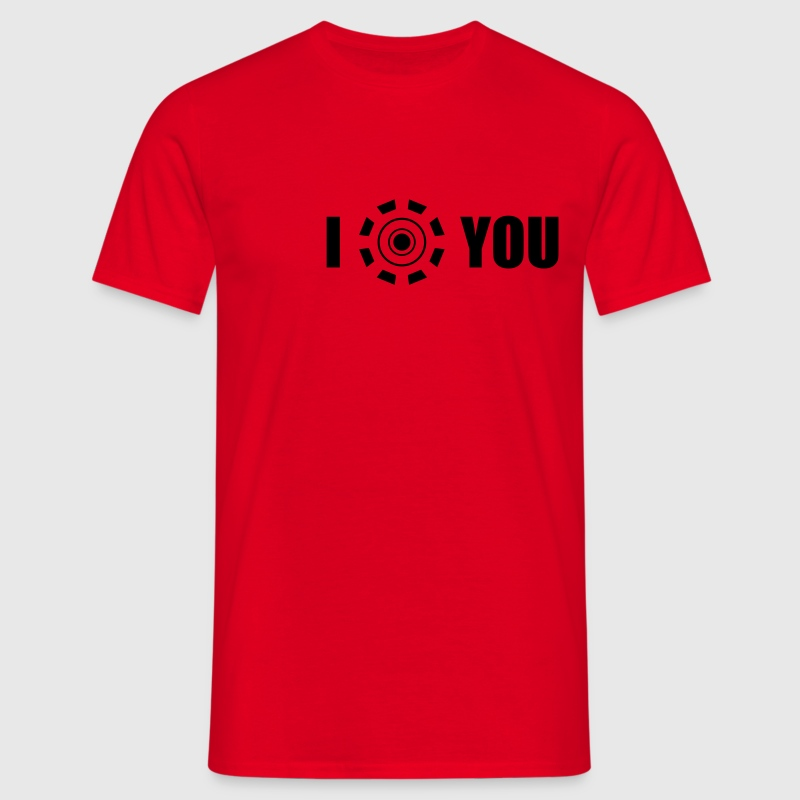 I love you (Iron Man heart) - Men's T-Shirt