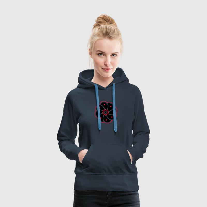 Cactus peyotl, Mexique, psychédélique, drogue Sweat-shirts - Sweat-shirt à capuche Premium pour femmes