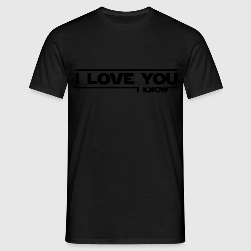I love you, I know (Star Wars) - Herre-T-shirt