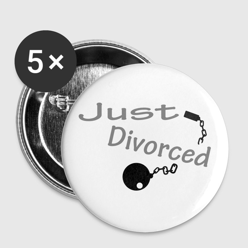 Blanc Just Divorced Badges - Badge grand 56 mm