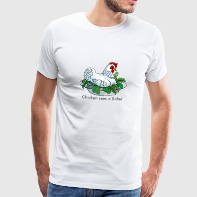 Chicken Sees A Salad Bags & backpacks - Men's Premium T-Shirt