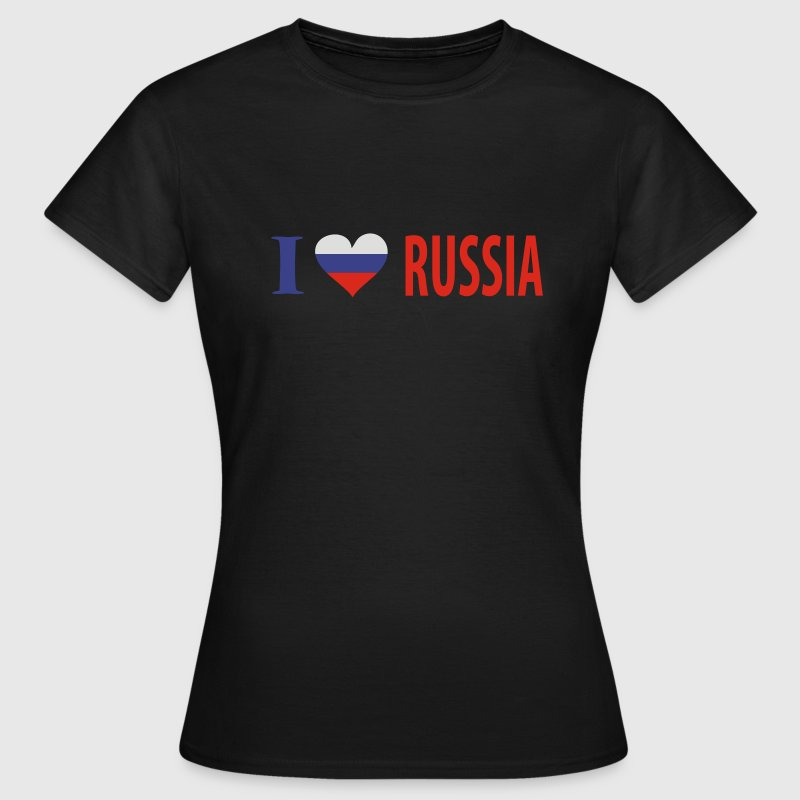 Olive I Love Russia Girlie - Frauen T-Shirt