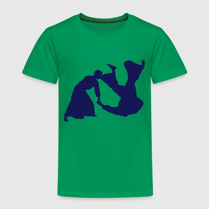 aikido silhouette shadow ombre3 Tee shirts - T-shirt Premium Enfant