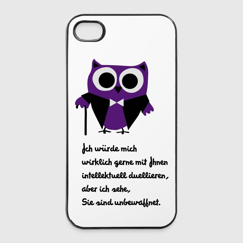 Eule, Satire, Spruch Intellektuell duellieren Handy & Tablet Hüllen - iPhone 4/4s Hard Case