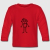 Stick figure - drawing children - Baby Long Sleeve T-Shirt