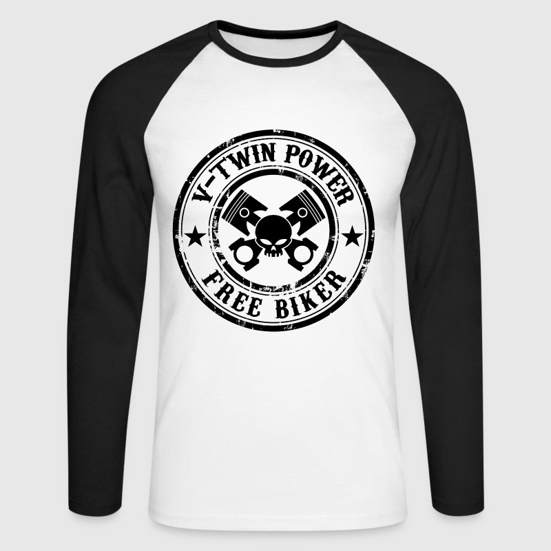 Free Biker design 02 Tee shirts manches longues - T-shirt baseball manches longues Homme