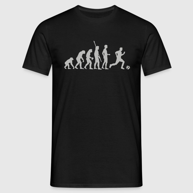 evolution_fussball_weiss T-Shirts - Men's T-Shirt