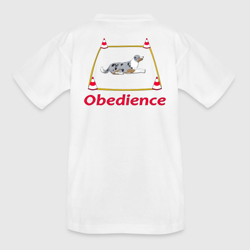 Obedience Box Australien Shepherd T-Shirts - Teenager T-Shirt