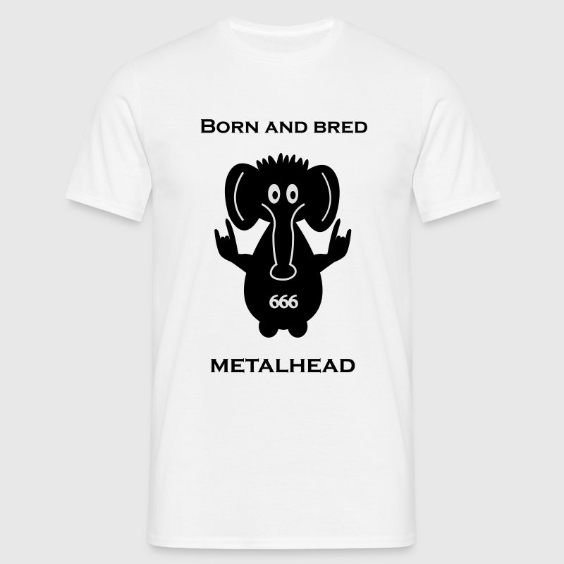 Born and bred metalhead classic logo T-Shirts - Men's T-Shirt