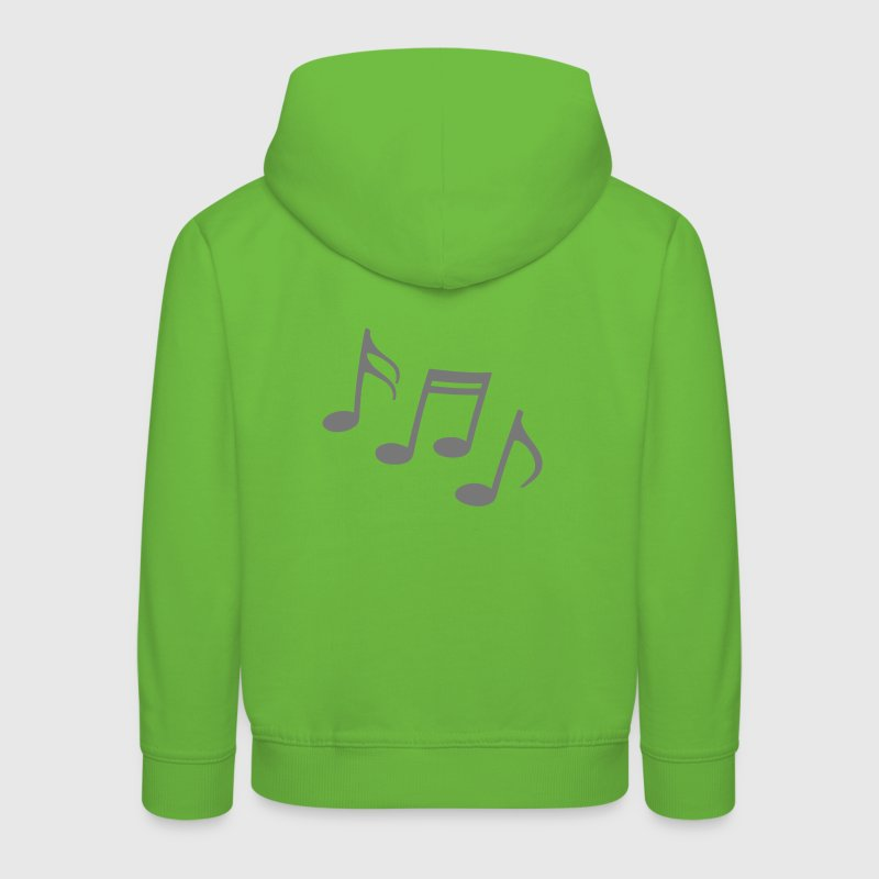 notes heureuses Partitions Musique musiciens Sweats - Pull à capuche Premium Enfant