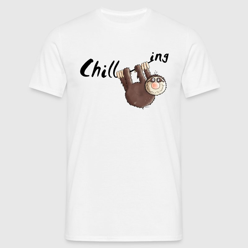 Chillen - Faultier - Faulenzen - Cartoon T-Shirts - Männer T-Shirt