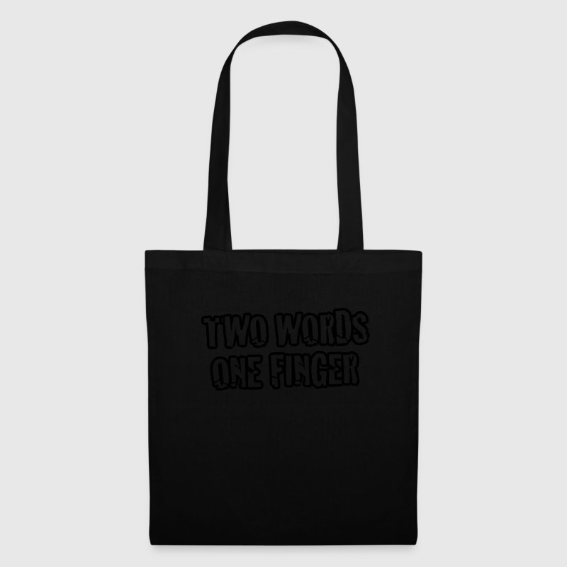 BP - Two Words - One Finger (1c) Bags & backpacks - Tote Bag