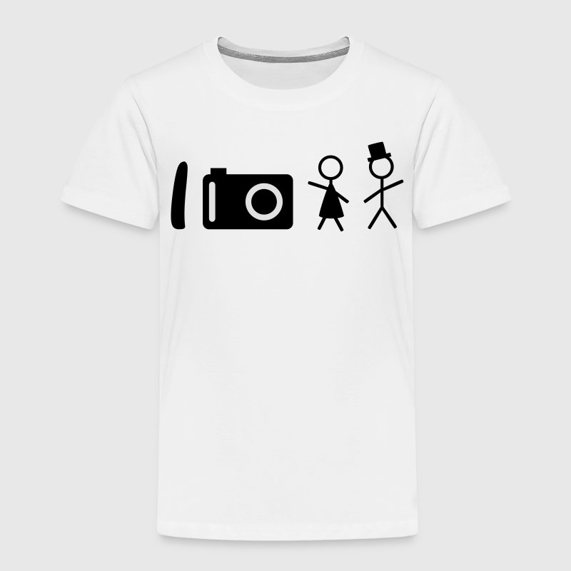 i take photos of people je prends des photos de personnes Tee shirts - T-shirt Premium Enfant