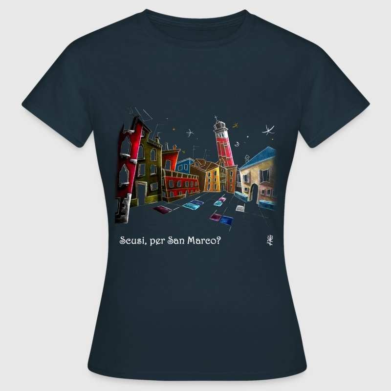 Venice Art Night Illustration - Women's T-Shirt