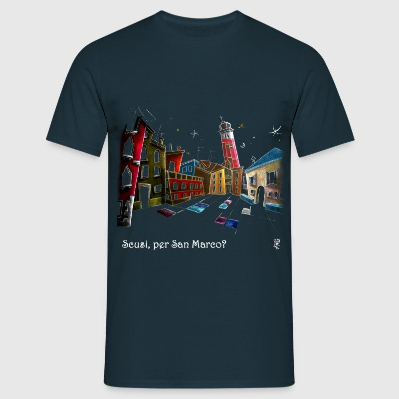 Venice Funny Art T-shirt - Men's T-Shirt
