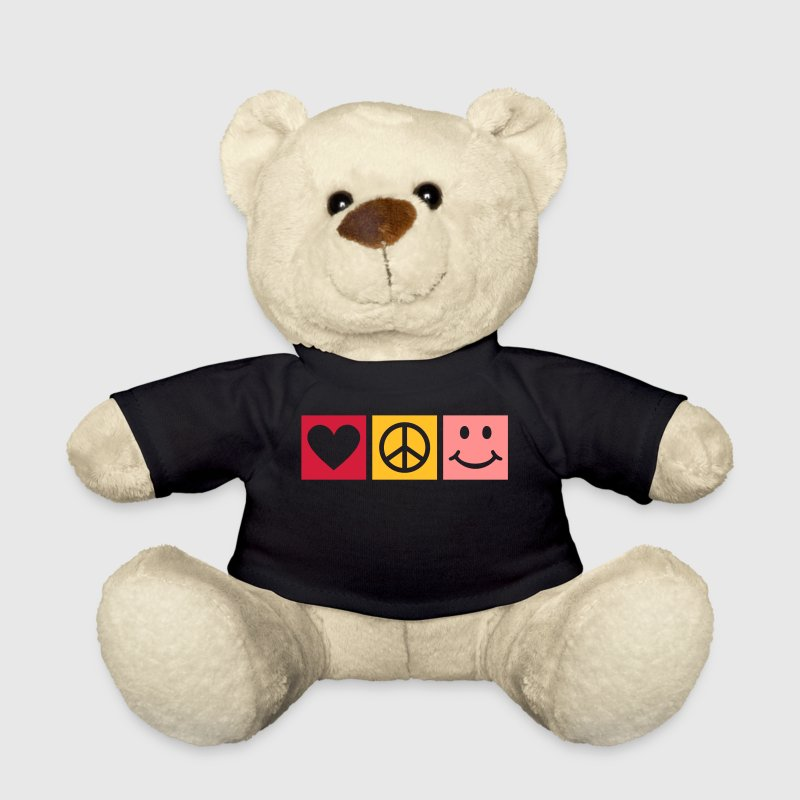 Love Peace Happiness * Smiley Smilie Herz Peace  Teddy - Teddy