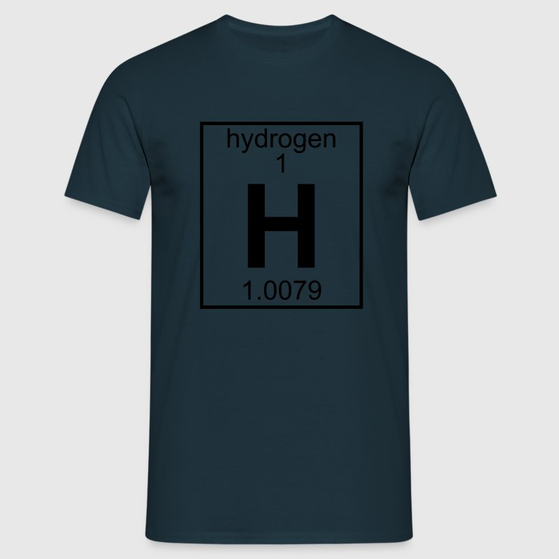 Periodic table element 1 - H (hydrogen) - BIG Magliette - Maglietta da uomo