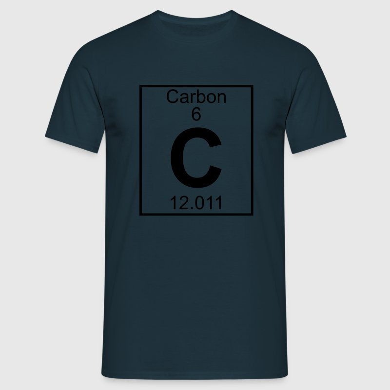 Periodic table element 6 - C (carbon) - BIG Magliette - Maglietta da uomo