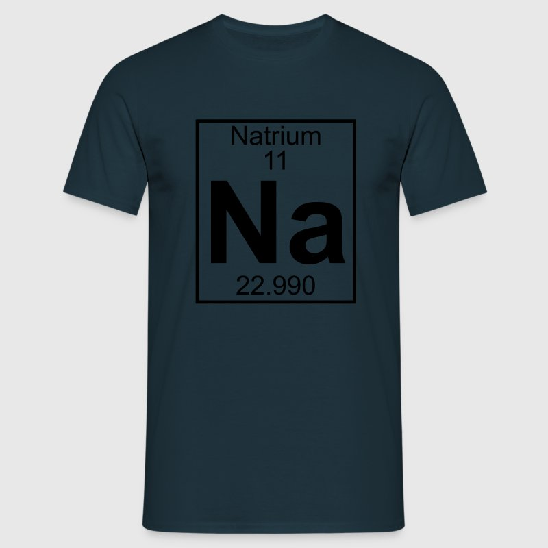 Periodic table element 11 - Na (natrium) - BIG T-shirts - T-shirt herr